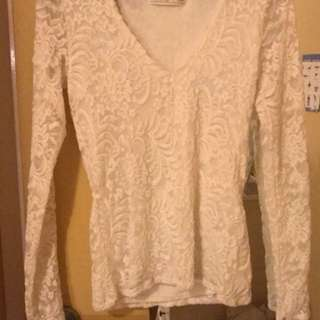 Abercrombie and Fitch lace top size XS