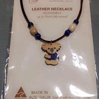 Koala Leather Necklace