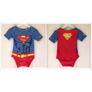 *NEW* Superman romper costume with cape