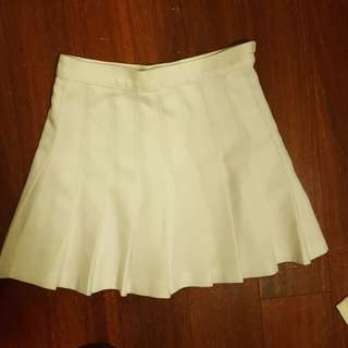 American Apparel White Tennis Skirt Small