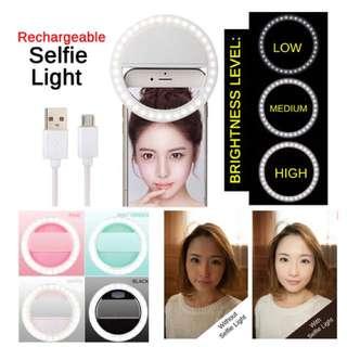 Ringlight beauty selfie rechargeable !! Sale!!