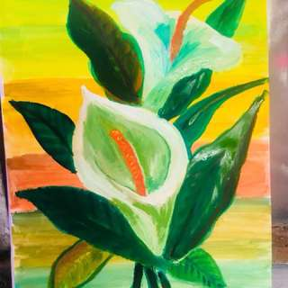 """Painting -""""lily"""""""