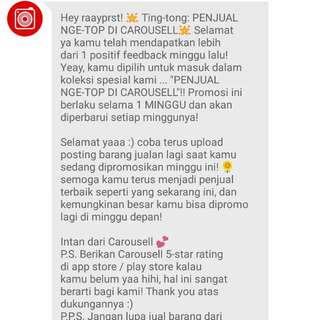 Yeaaayyy Thanks Carousell