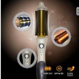SS Shiny Ultra Volume silm brush wireless curling iron SG-008