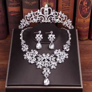 韓式 新娘 首飾 結婚 飾物 頸鍊 耳環 婚紗配件 wedding Jewelry