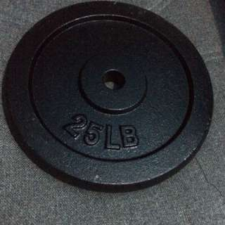 25lb weight plate