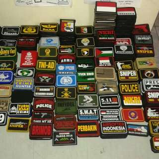 Patch rubber,bahan karet,tactical style