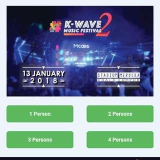 K-wave Music Festival Ticket