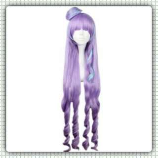 WOMEN LONG MIXED COLOR PURPLE BLUE WIGS FULL BANGS ANIME COSPLAY HAIR FOR MACROSS DELTA FIGURE (PRE-ORDER)