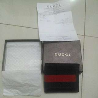 NEGO! Dompet Gucci Leather Signature Wallet