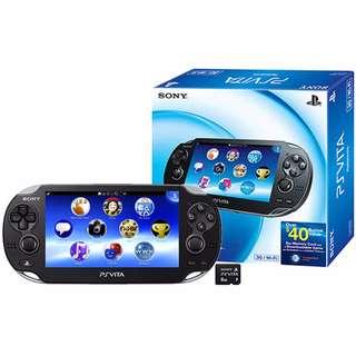 PS Vita (Wifi/Black/7 Games)