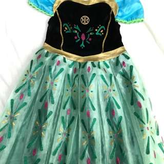Frozen Anna dress in size 5-6y. Wore once only during bday party