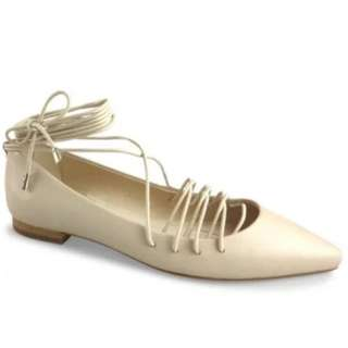 Wittner Sofia Flats Nude Leather sz37