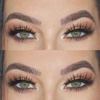 3 Pairs Huda Luxe soft quality clear band demi wispy False eyelashes