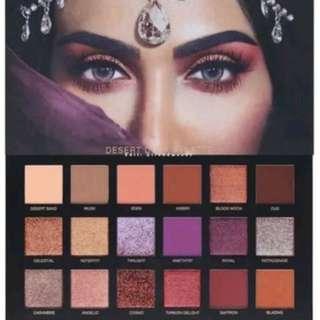 Huda Desert Dusk Pallete Eye Shadows 18 colours