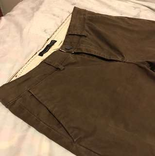 Zara Brown Stretch Skinny Chinos Size 29