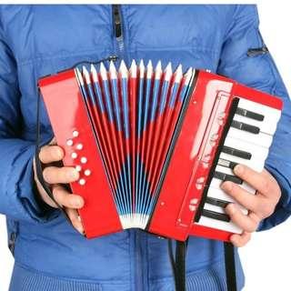 17keys Accordion Piano Keyboard Bass Rhythm Instrument