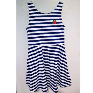 H&M Striped Dress (White & Blue)