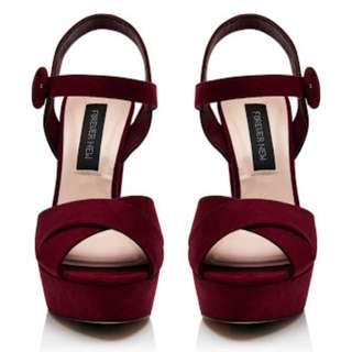 Forever New Marina Heel in Berry sz 37