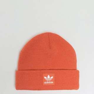 🚚 adidas originals trefoil beanie in orange毛帽