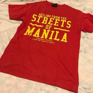 Red Team Manila Shirt Size S
