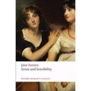 🚚 英文小說 Sense and Sensibility 珍‧奧斯汀Jane Austen 理性與感性