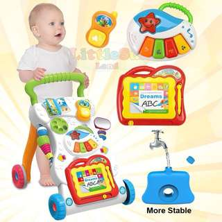 Baby toddler Push Walker With Education learning Toys