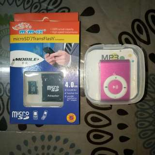 MP3 PLAYER WITH 4GB MEM CARD