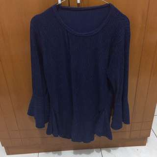 Atasan Polos Navy (Fit to XL)
