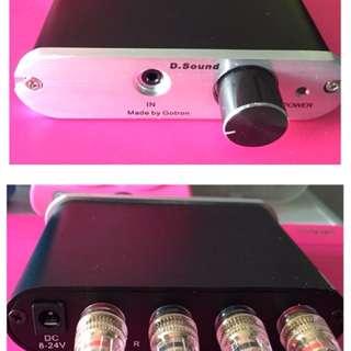 Mini Amplifier 60W Size : 112 x 28 x 122 (mm)  3.5mm input