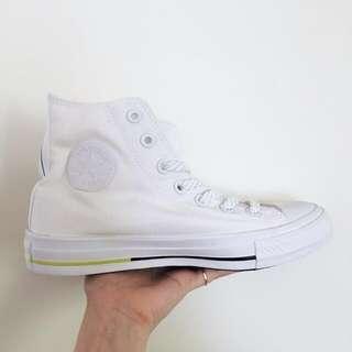🚚 Converse 白色高筒帆布鞋 二代 Chuck Taylor 6號 23號