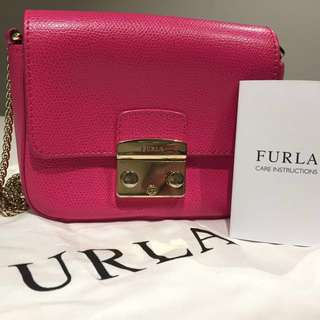 Furla little crossbody bag in pink colour