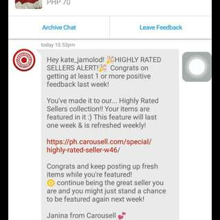 2nd thank you Carousell
