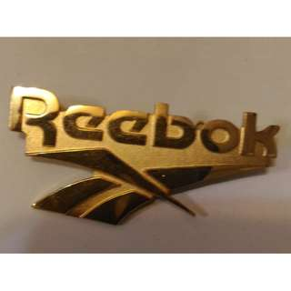 "Vintage REEBOK 2"" Golden Brooch Pin 心口針 徽章 襟章 sport 運動"