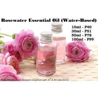 Rosewater Essential Oil (Water-based) for Air Humidifier / Diffuser & Others