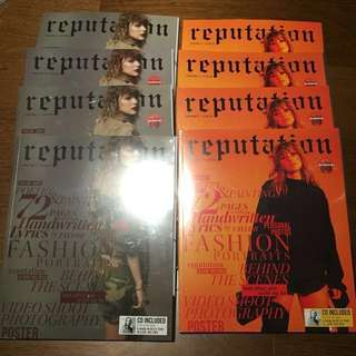 Taylor Swift Reputation Target Magazine with CD and poster