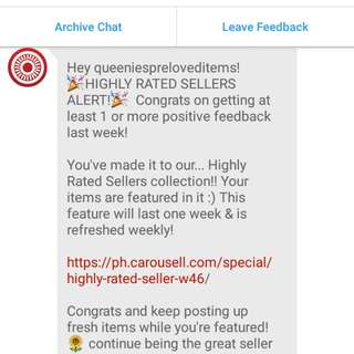 Thank you Carousell for the COMPLIMENTS 💗💕💞😍💯
