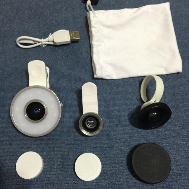 蘋果6三合一特效美顏鏡頭。自拍神器補光燈。廣角