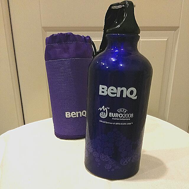 全新紫色運動風水壺,附提袋&吊環