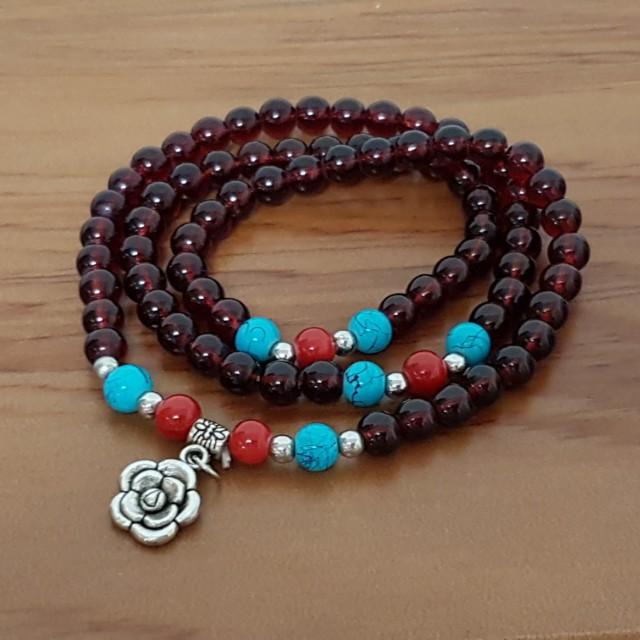 紅瑪瑙石榴手珠
