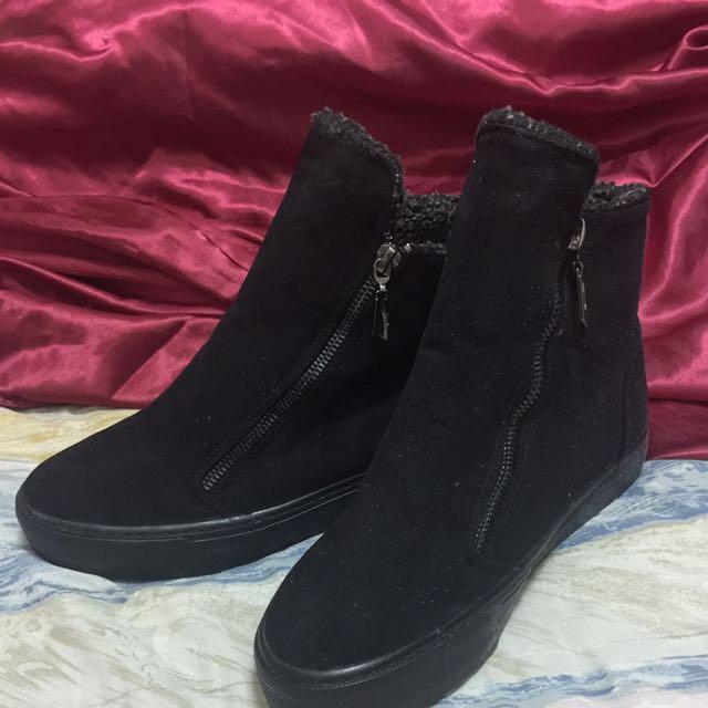 全新加絨平底鞋