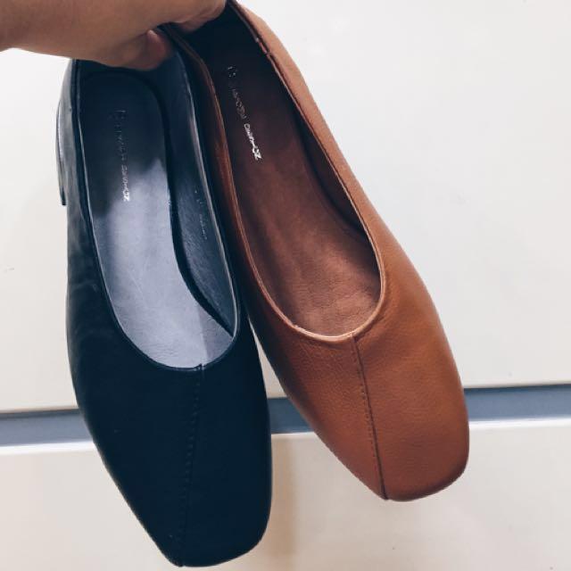 初秋穿這個—韓國真皮平底鞋🍁(含運)