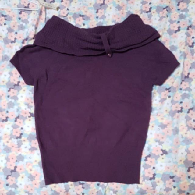 #推👍紫色短袖毛衣