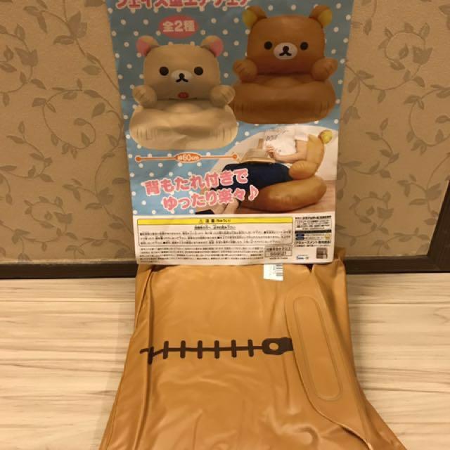 全新 日本拉拉熊充氣沙發椅
