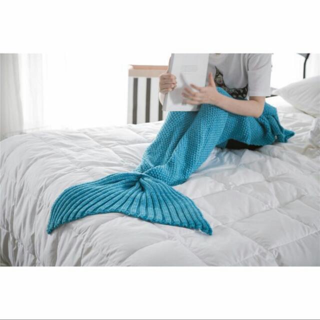 小美人魚 針織毛毯