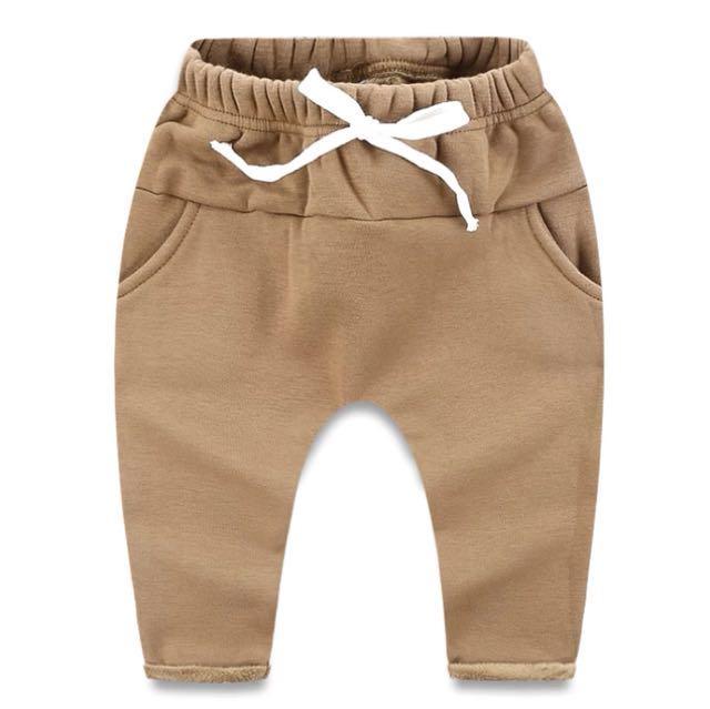‼️超特價出清‼️ 純色加絨保暖哈倫褲