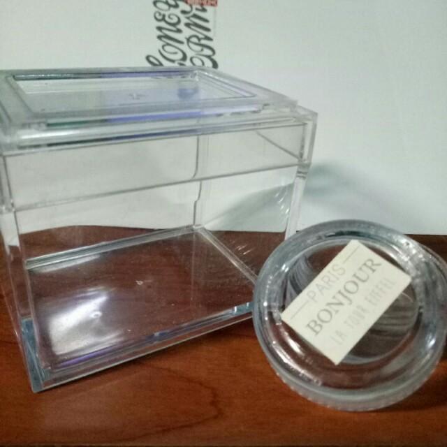 透明壓克力 收納盒 小圓罐