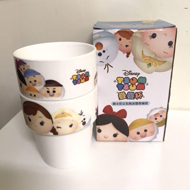全新 | 全家 tsum tsum 疊疊杯 迪士尼公主與冰雪奇緣款