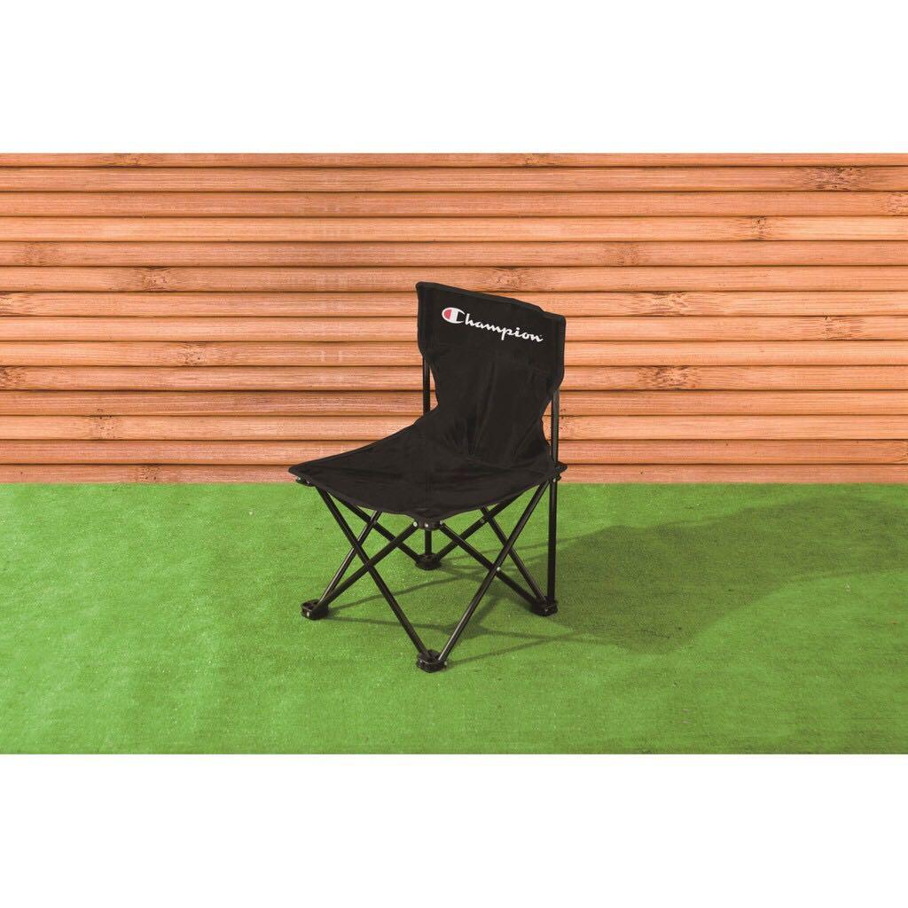 全新 專櫃 champion 折疊椅 黑色 附收納袋 野餐