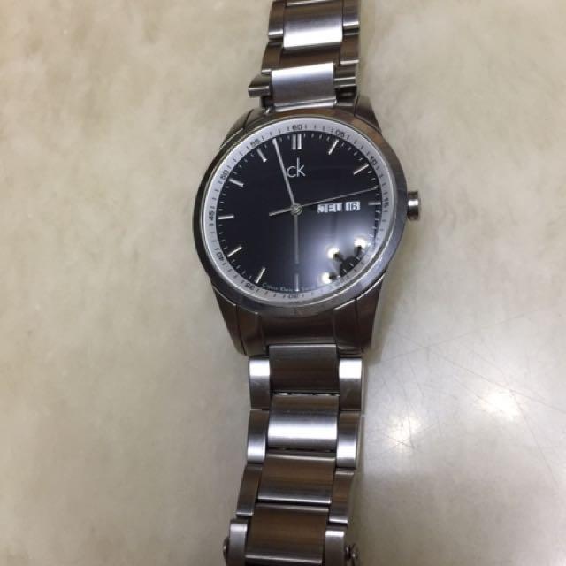瑞士製 CK 經典簡約時尚鋼錶